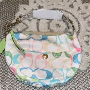 Authentic coach small spring pastel bag
